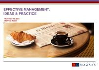 "Presentation ""Effective Management: Ideas & Practice"""